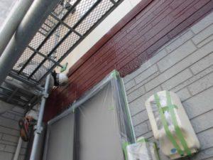 屋根カバー工法と外壁塗装の施工の様子3