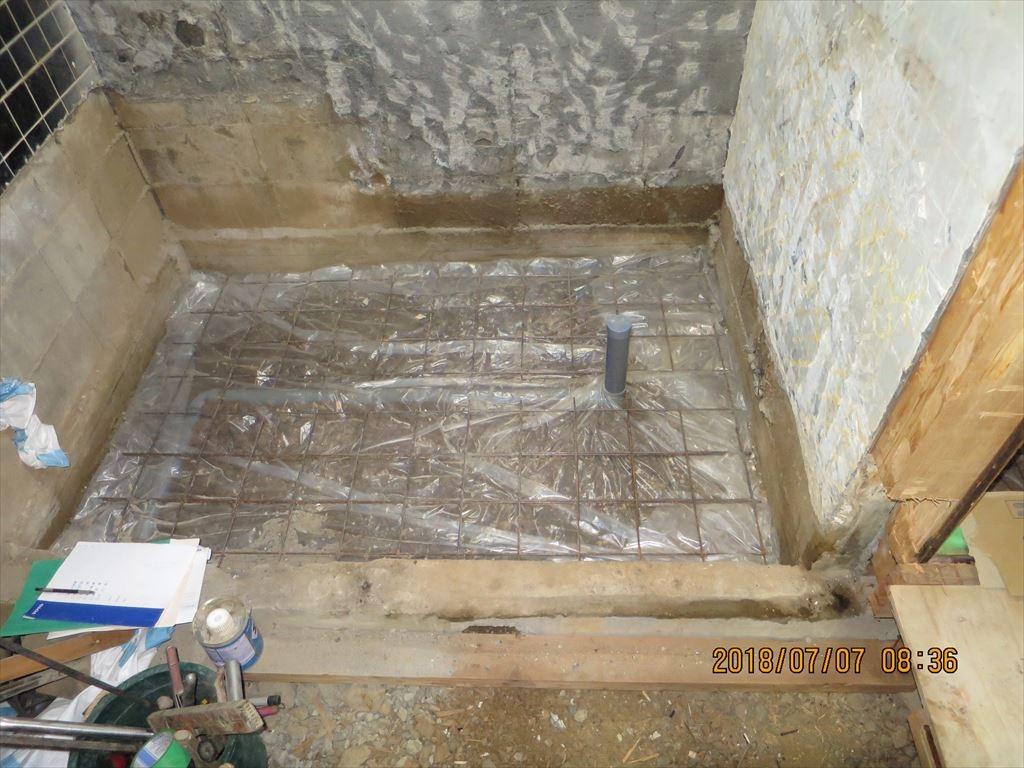 水廻りを含めた大規模リフォームの施工の様子5
